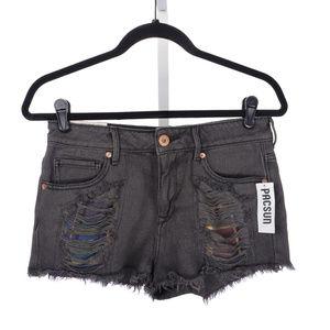 NWT pacsun bullhead High Rise Shorts Plaid Size 7